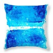 Blue Modern Art - Two Pools - Sharon Cummings Throw Pillow