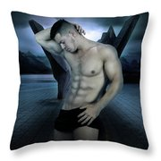 Blue Moment  Throw Pillow