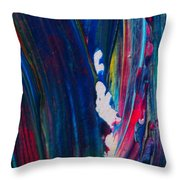 Blue Mood Abstract Throw Pillow