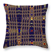 Blue Moon Abstract Throw Pillow