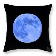 Blue Moon Close Up Throw Pillow