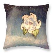Blue Moon Flower Throw Pillow