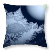 Blue Moon Out My Window Throw Pillow