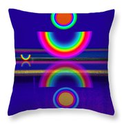 Blue Moon Reflections Throw Pillow