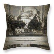 Blue Mosque - Sketch Throw Pillow