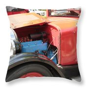 Blue Motor Throw Pillow