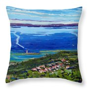 Blue Mountain Blues Throw Pillow