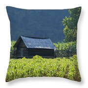 Blue Mountain Farm Throw Pillow