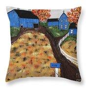 Blue Mountain Farm Throw Pillow
