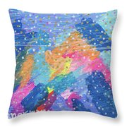 Blue Mountain Mayhem Throw Pillow