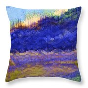 Blue Mountain River Throw Pillow