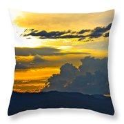 Blue Mountain Sunset Throw Pillow