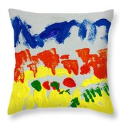 Blue Mountains Even Lemons Limes Oranges And Strawberries Throw Pillow