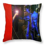 Blue Muses Throw Pillow