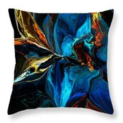 Blue Mystery 062915 Throw Pillow