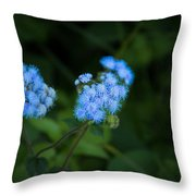 Blue Native Bloom Throw Pillow