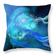 Blue Nebula Throw Pillow
