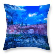 Blue Night Over Teutonic Castle Throw Pillow