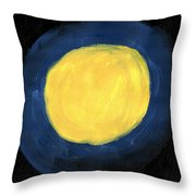 Blue Night Sun Throw Pillow