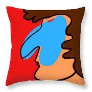 Blue Nose Throw Pillow