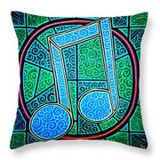 Blue Note Throw Pillow