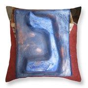 Blue Nun Throw Pillow