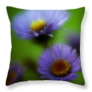 Blue On Green 2 Throw Pillow