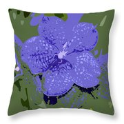 Blue On Green Work Number 9 Throw Pillow