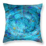 Blue Oval Throw Pillow