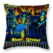 Blue Oyster Cult Jamming In Oakland 1976 Throw Pillow