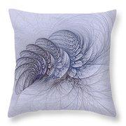 Blue Pagliai Ferns Throw Pillow