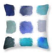 Blue Palette, No.1 Throw Pillow
