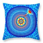 Blue Parrot Mandala Throw Pillow