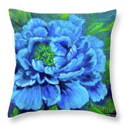 Blue Peony Jenny Lee Discount Throw Pillow