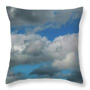 Blue Perfect Sky Sea Of Clouds From High Altitude Space Throw Pillow