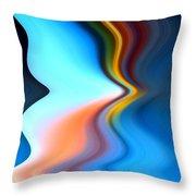 Blue Pinch Wave Throw Pillow