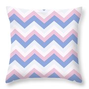 Blue Pink Chevron Pattern Throw Pillow