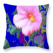Blue Pink Throw Pillow