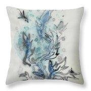 Blue Plant Of Dream Throw Pillow