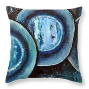 Blue Plate Special Throw Pillow