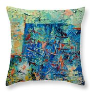 Blue Play 2 Throw Pillow