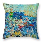 Blue Play 4 Throw Pillow