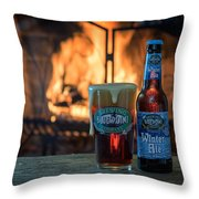 Blue Point Winter Ale By The Fire Throw Pillow