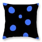 Blue Polka Dot Design Request Throw Pillow