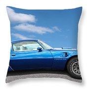 Blue Pontiac Trans Am 1978 Throw Pillow