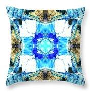 Blue Pool Throw Pillow