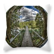 Blue Pools Bridge Throw Pillow by Chris Cousins