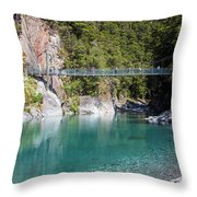 Blue Pools New Zealand Throw Pillow