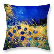 Blue Poppies 459070 Throw Pillow