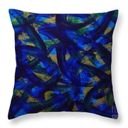 Blue Pyramid Throw Pillow